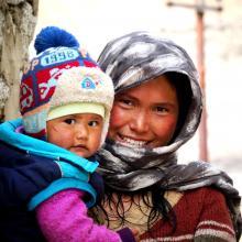 Ladhaki Mom Child
